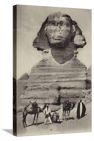 Egypt - the Sphinx--Stretched Canvas Print
