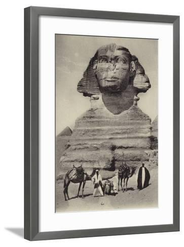 Egypt - the Sphinx--Framed Art Print
