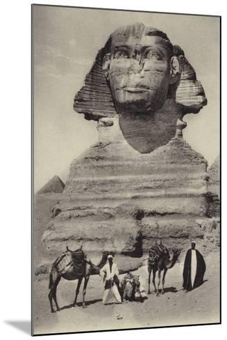 Egypt - the Sphinx--Mounted Photographic Print