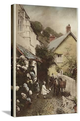 Independant Street, Clovelly, Devon--Stretched Canvas Print