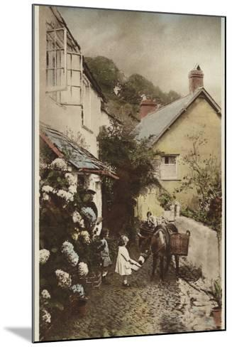 Independant Street, Clovelly, Devon--Mounted Photographic Print