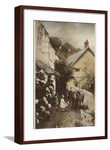 Independant Street, Clovelly, Devon--Framed Art Print