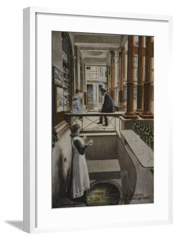 Taking the Waters, Royal Tunbridge Wells--Framed Art Print