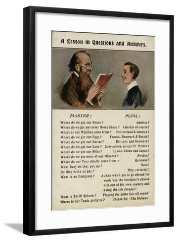 A Lesson in Questions and Answers--Framed Art Print