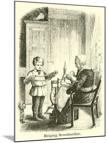 Helping Grandmother--Mounted Giclee Print