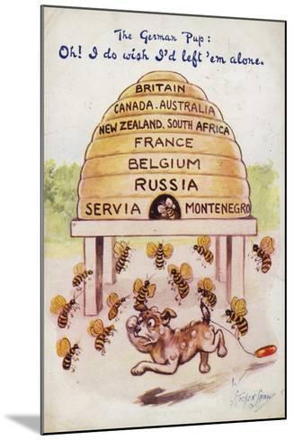 A German Puppy Being Stung by Allied Bees--Mounted Giclee Print