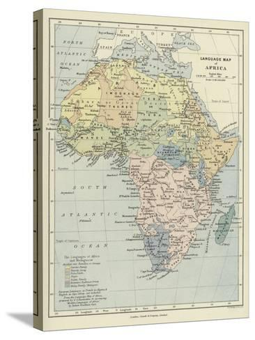 Language Map of Africa--Stretched Canvas Print