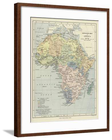 Language Map of Africa--Framed Art Print