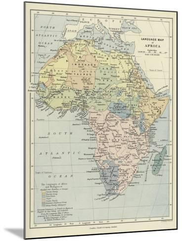 Language Map of Africa--Mounted Giclee Print