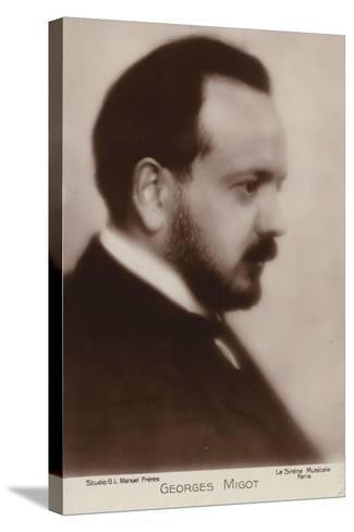 Portrait of Georges Migot--Stretched Canvas Print
