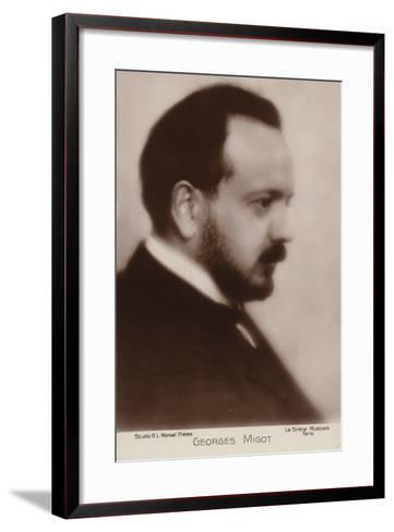 Portrait of Georges Migot--Framed Art Print