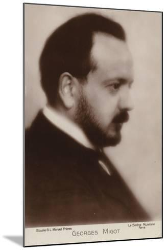 Portrait of Georges Migot--Mounted Photographic Print