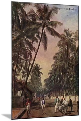 Village Scene, Bombay--Mounted Photographic Print