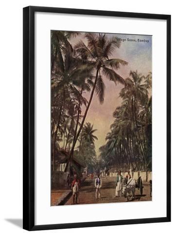 Village Scene, Bombay--Framed Art Print