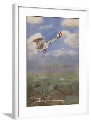 Diving with Engine Running--Framed Art Print