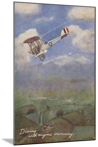 Diving with Engine Running--Mounted Giclee Print