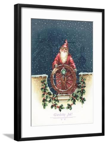 Danish Christmas Card--Framed Art Print