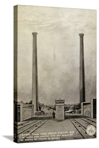 Camden Town Fixed Engine Station, 1838--Stretched Canvas Print
