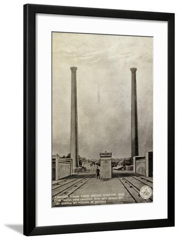 Camden Town Fixed Engine Station, 1838--Framed Art Print