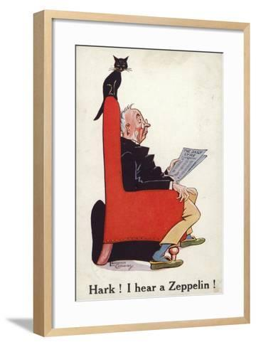 Hark I Hear a Zeppelin!--Framed Art Print