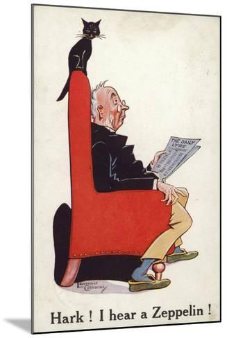 Hark I Hear a Zeppelin!--Mounted Giclee Print