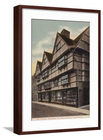 Mr Sapsea's House, Edwin Drood--Framed Art Print