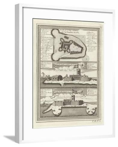 Three Views of Fort James in Gambia--Framed Art Print