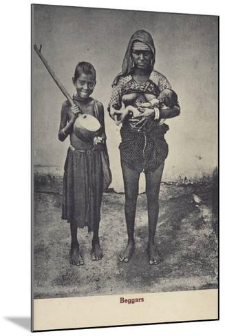 Beggars in Sri Lanka--Mounted Photographic Print
