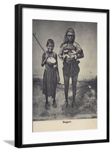 Beggars in Sri Lanka--Framed Art Print