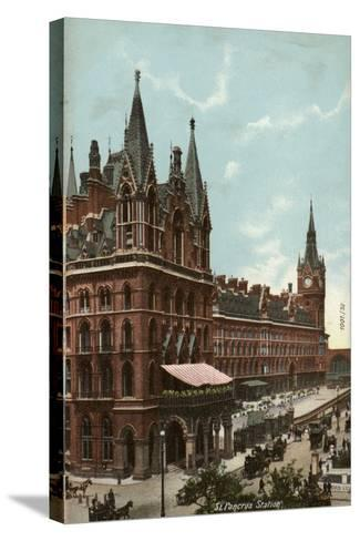 St. Pancras Station, London--Stretched Canvas Print