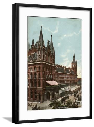 St. Pancras Station, London--Framed Art Print