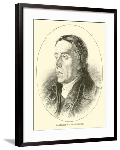 Portrait of Zeisberger--Framed Art Print