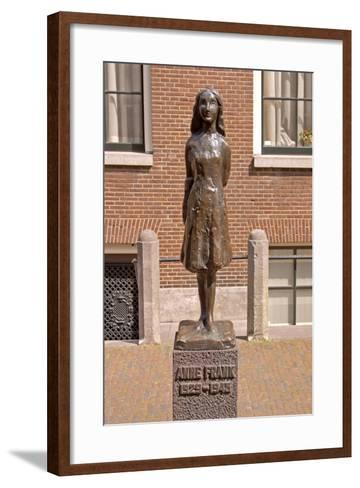 Statue of Anne Frank--Framed Art Print