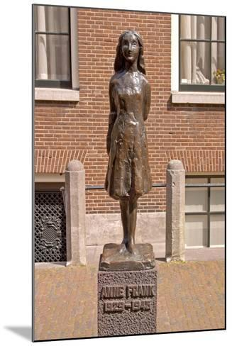 Statue of Anne Frank--Mounted Giclee Print