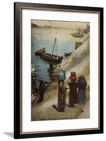 Cairo - on the Banks of the Nile--Framed Art Print