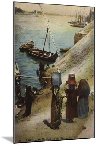 Cairo - on the Banks of the Nile--Mounted Photographic Print