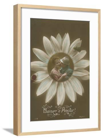 Baiser D'Amour--Framed Art Print