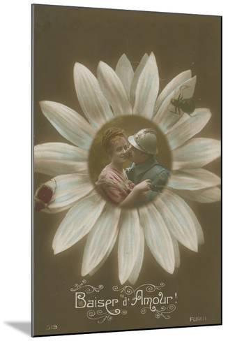 Baiser D'Amour--Mounted Photographic Print