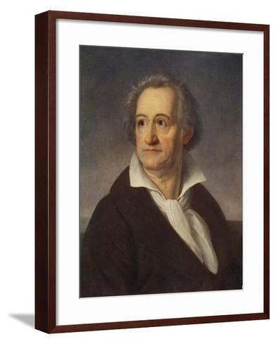 Johann Wolfgang Von Goethe--Framed Art Print