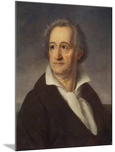 Johann Wolfgang Von Goethe--Mounted Giclee Print