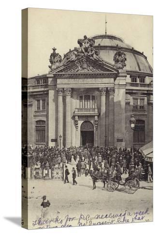 Postcard Depicting the Bourse De Commerce--Stretched Canvas Print