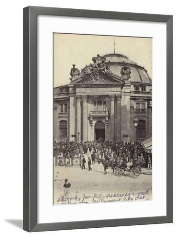 Postcard Depicting the Bourse De Commerce--Framed Art Print
