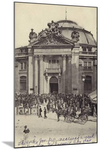 Postcard Depicting the Bourse De Commerce--Mounted Photographic Print