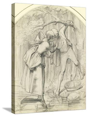 The Crossing, C.1860-John Richard Clayton-Stretched Canvas Print