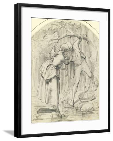 The Crossing, C.1860-John Richard Clayton-Framed Art Print