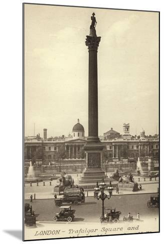 London, Trafalgar Square and Nelson's Monument--Mounted Photographic Print