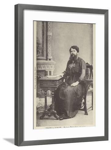 Madame Delait in Her Sitting Room--Framed Art Print
