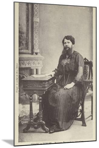 Madame Delait in Her Sitting Room--Mounted Photographic Print