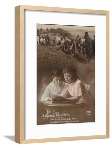Lettre Au Papa Cherie--Framed Art Print