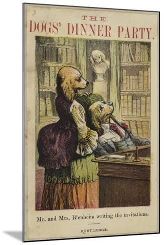 Mr and Mrs Bleheim Writing the Invitations--Mounted Giclee Print